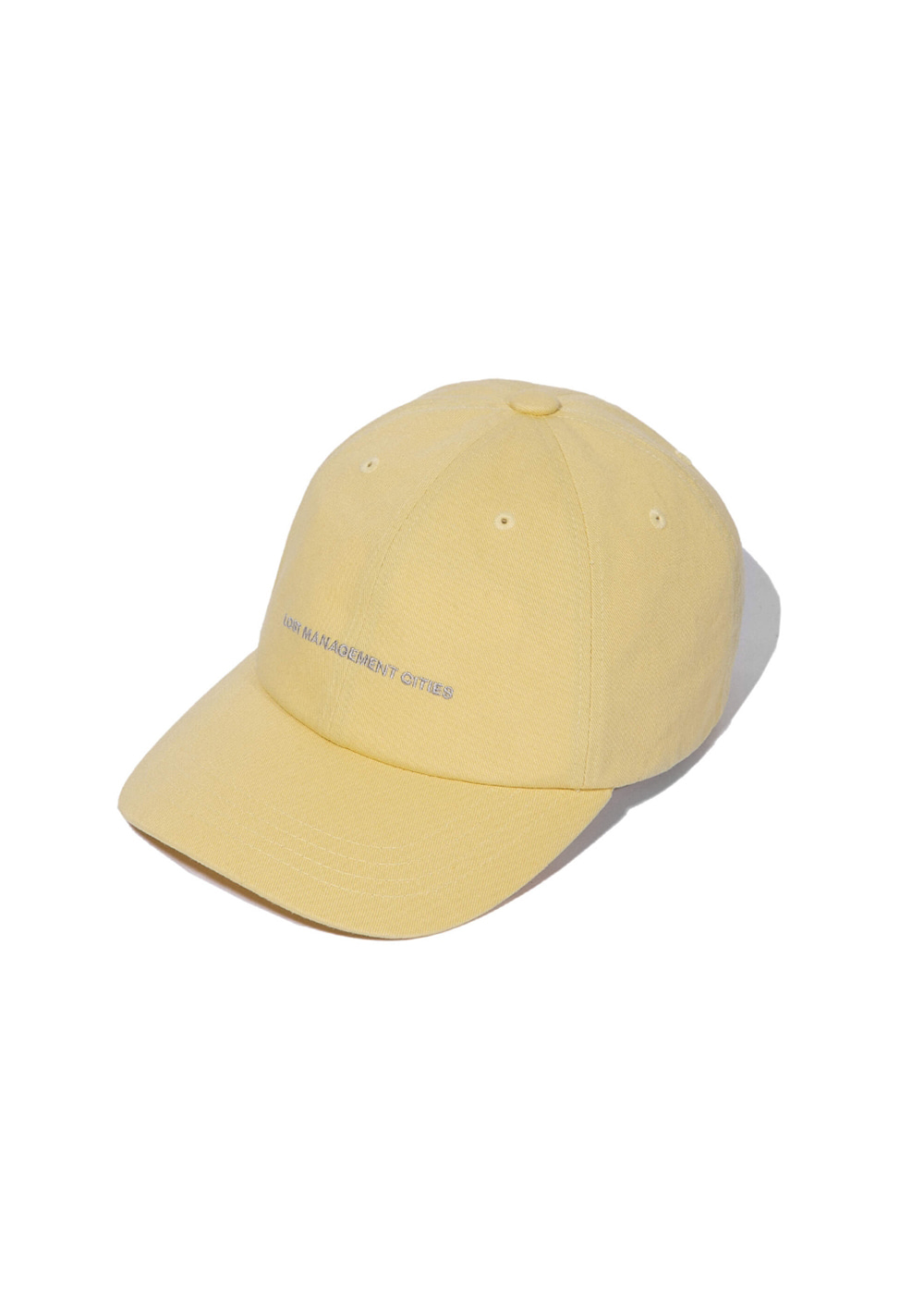 LMC CAPITAL LOGO 6 PANEL CAP yellow