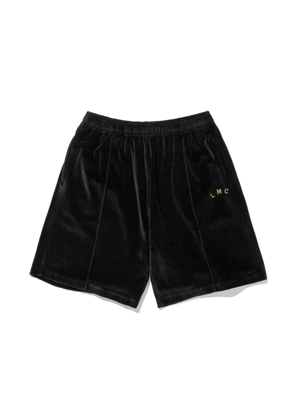 LMC RED LABEL VELOUR SHORTS black