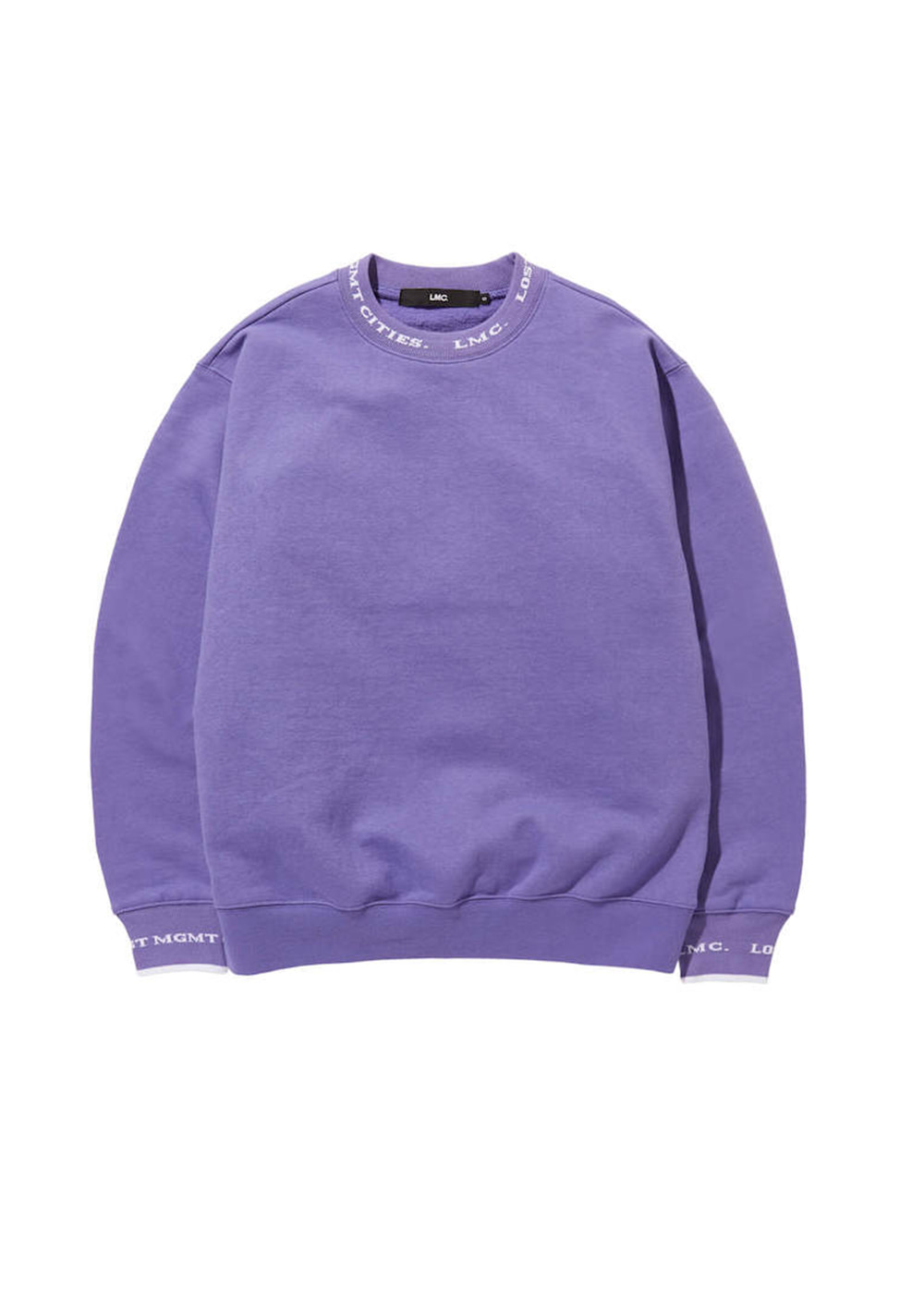 LMC LOGO JACQUARD BAND SWEATSHIRT purple