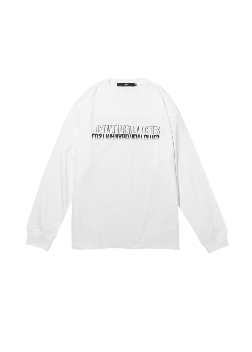 LMC SHADOW FN LONG SLV TEE white