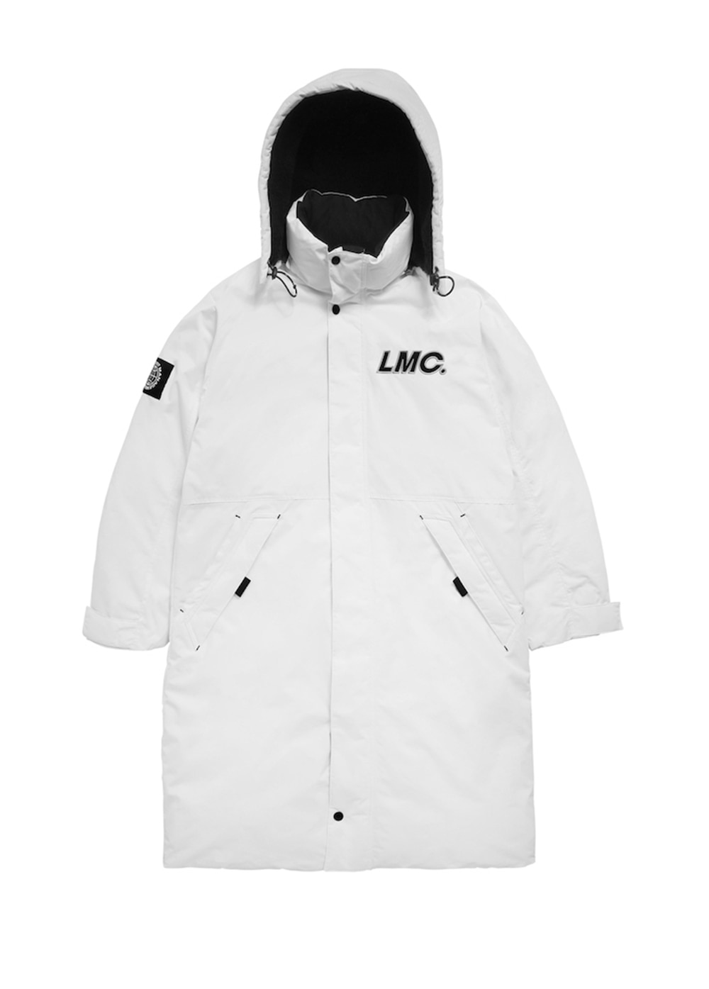 LMC CO TEAM PADDED LONG PARKA white