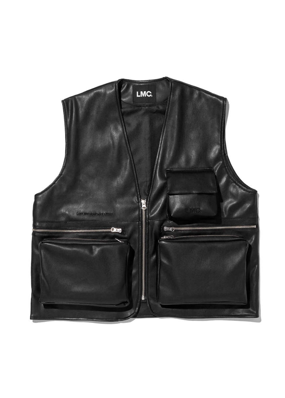 LMC LEATHER UTILITY VEST black