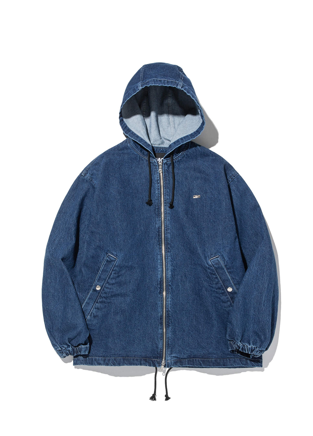 LMC STONE WASHED DENIM HOODIE JACKET blue