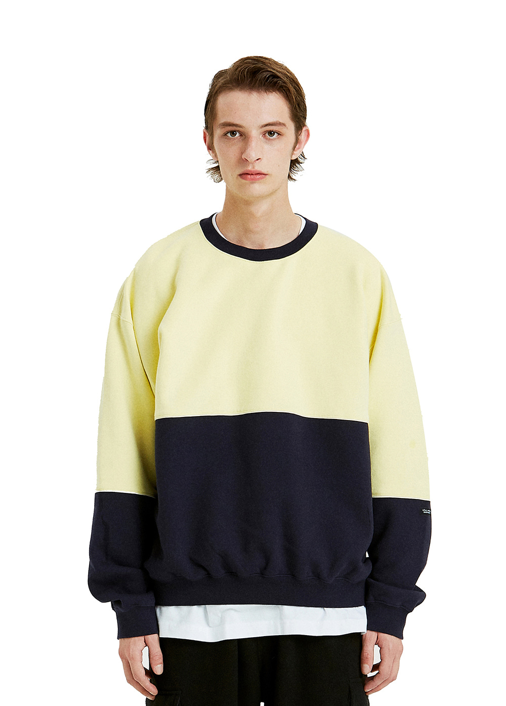 COLOR BLOCK SWEATSHIRT yellow