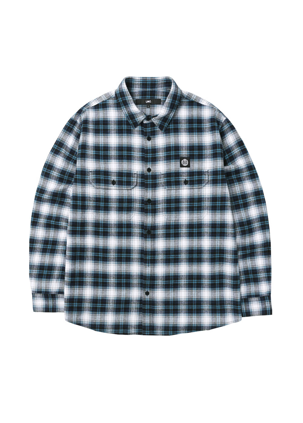 LMC B LINE PLAID SHIRT blue