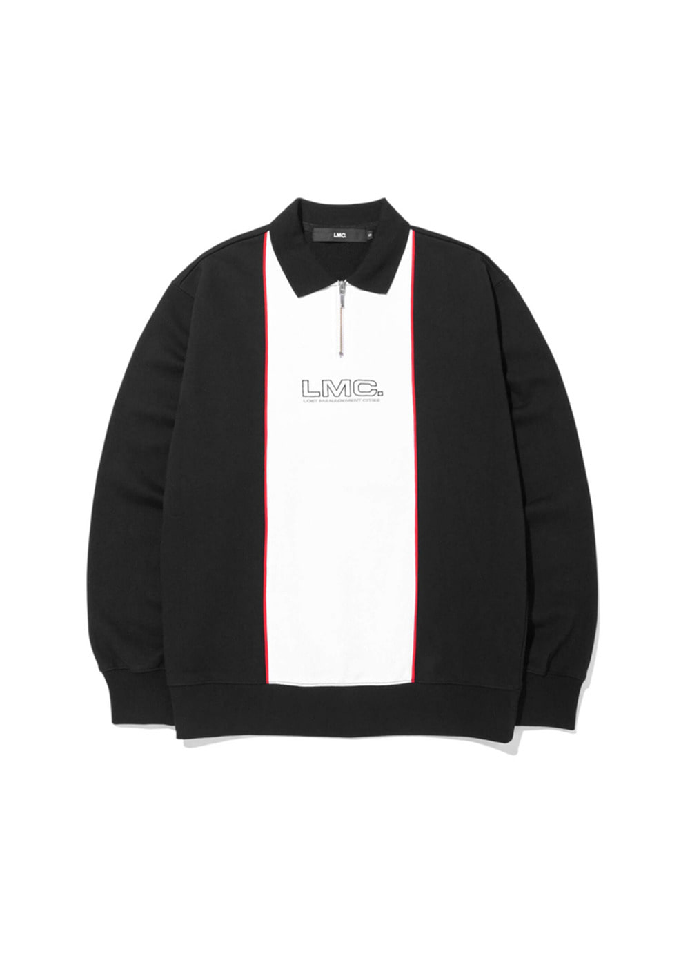 LMC COLLAR QUARTER ZIP SWEATSHIRT black