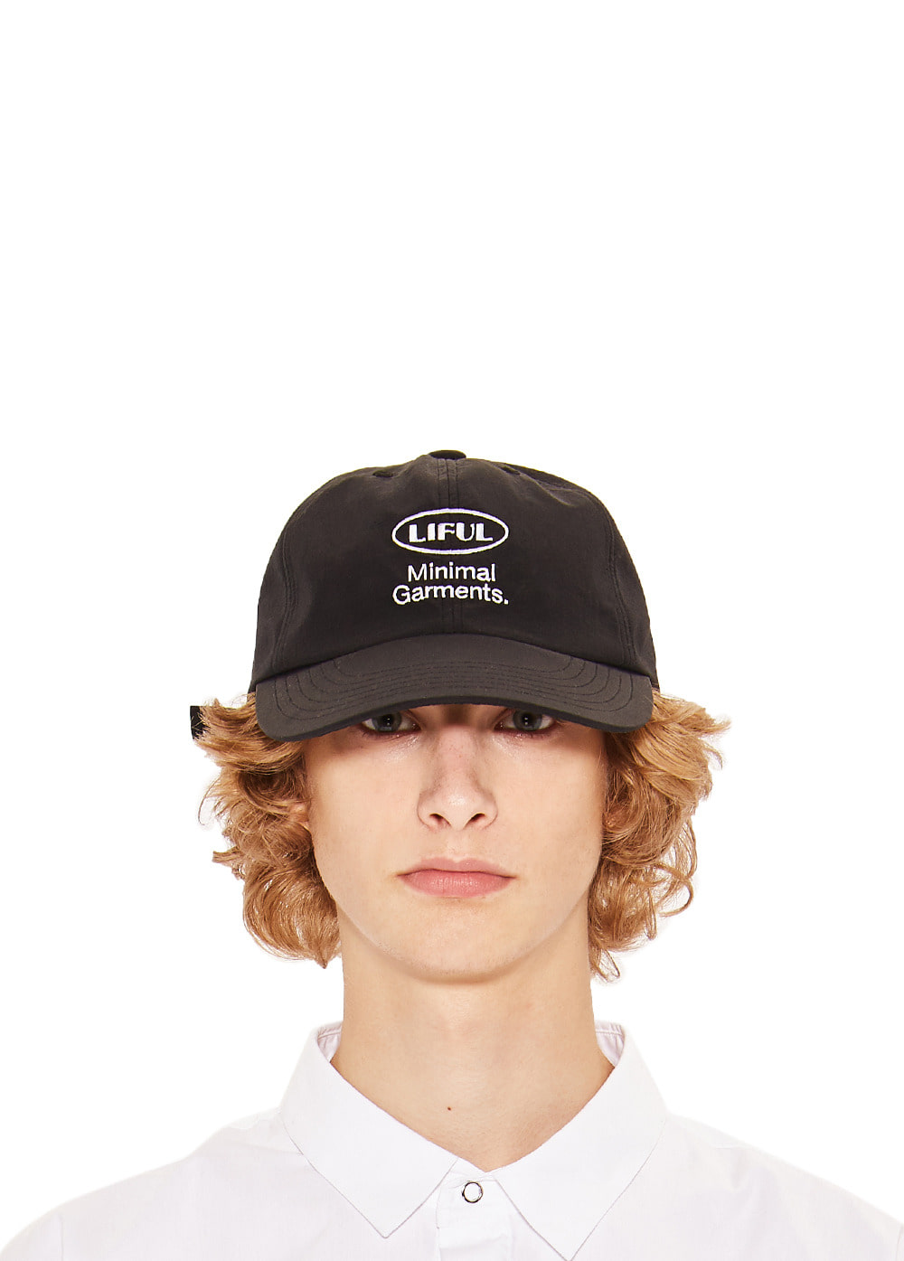 OVAL LOGO 6 PANEL CAP black