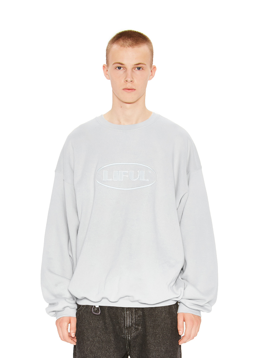 OVAL LOGO SWEATSHIRT gray