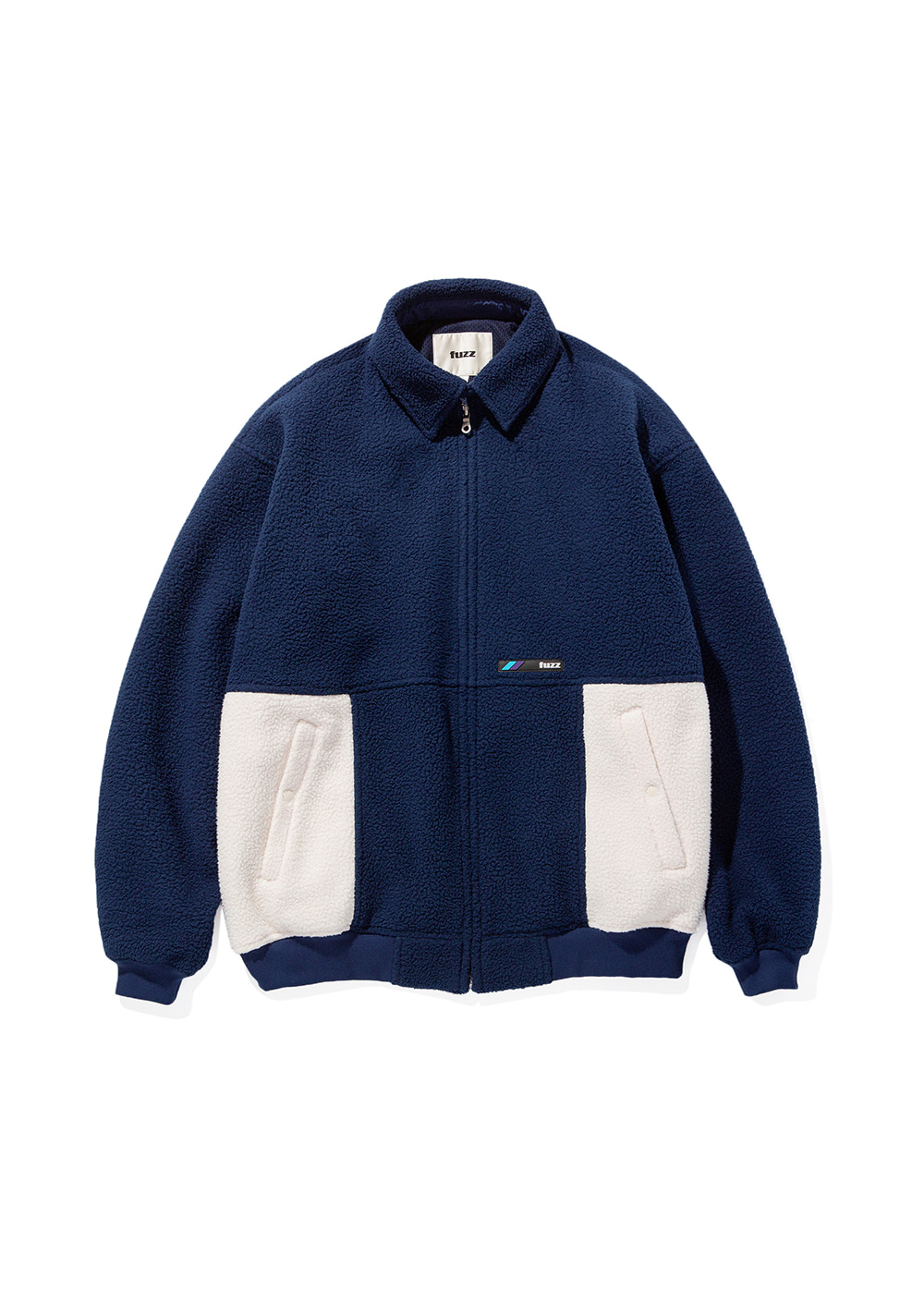 FUZZ FLEECE HARRINGTON JACKET navy