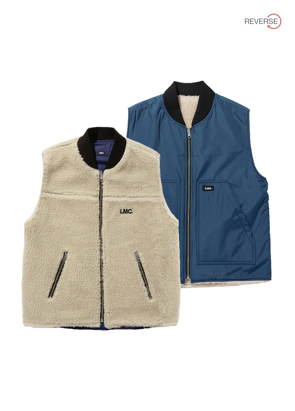 LMC REVERSIBLE BOA VEST be/nv