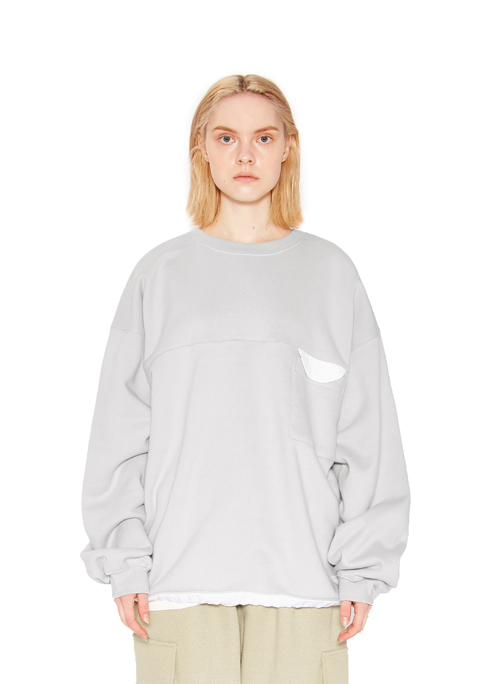 POCKET SWEATSHIRT gray