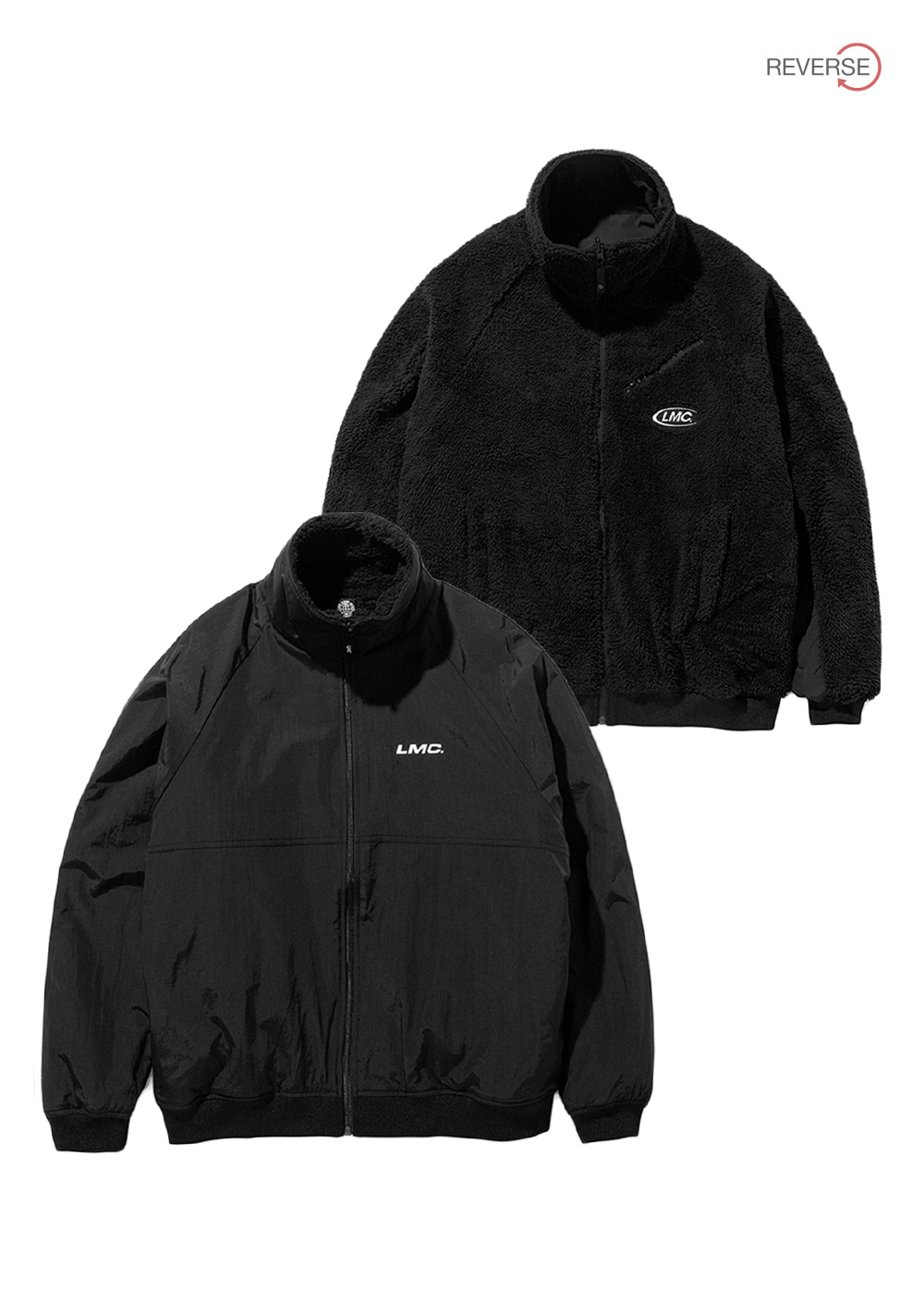 LMC SILKY FLEECE REVERSIBLE JACKET black