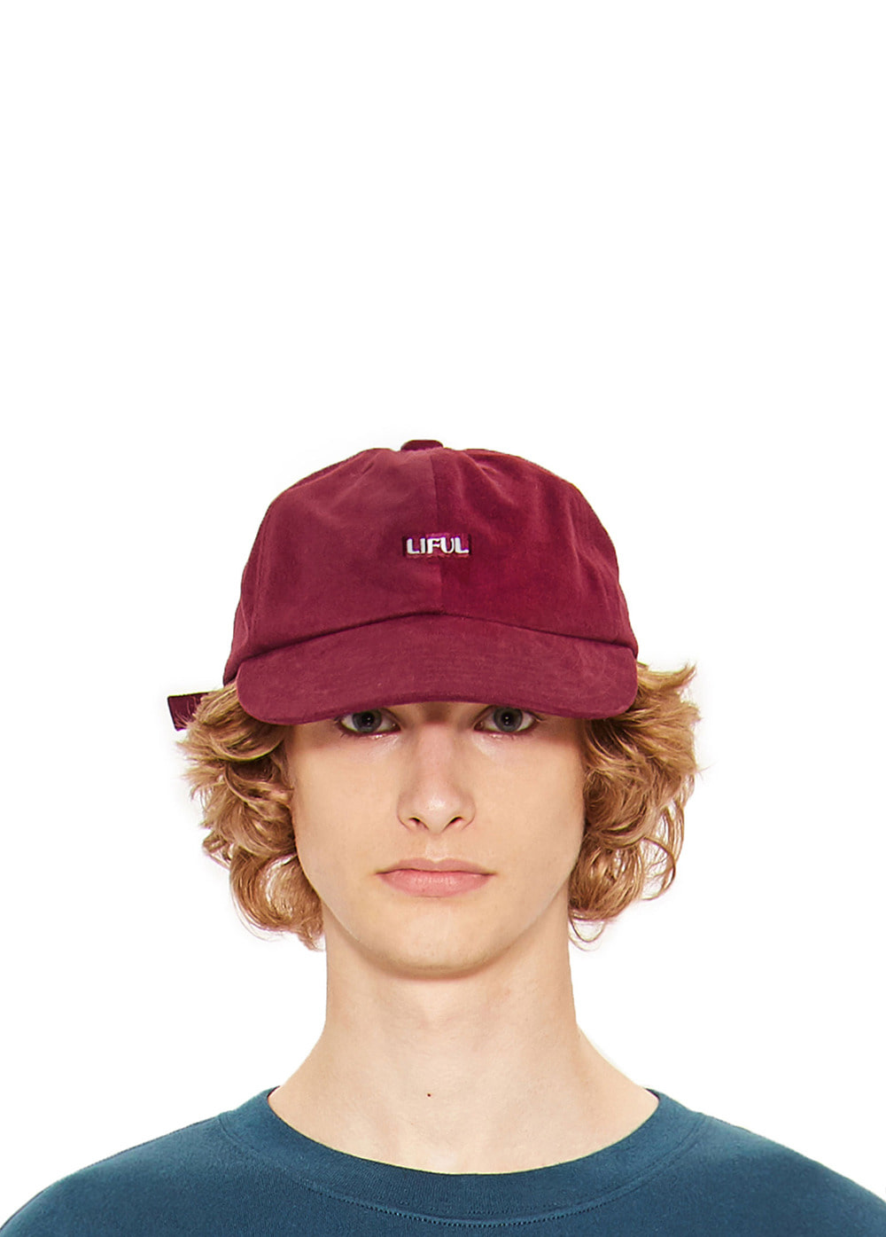 BOX LOGO 6 PANEL CAP burgundy