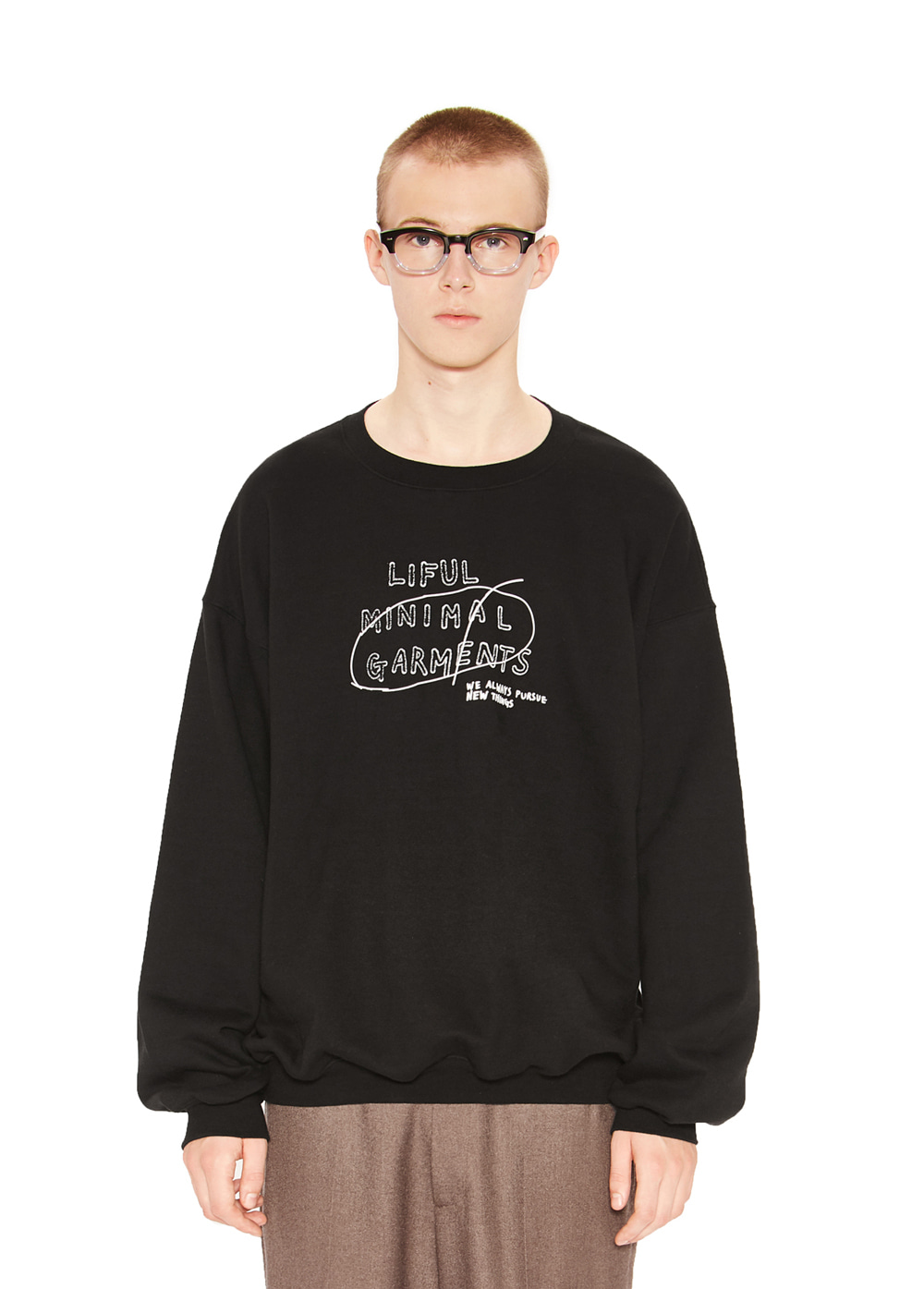 HANDWRITTEN SWEATSHIRT black
