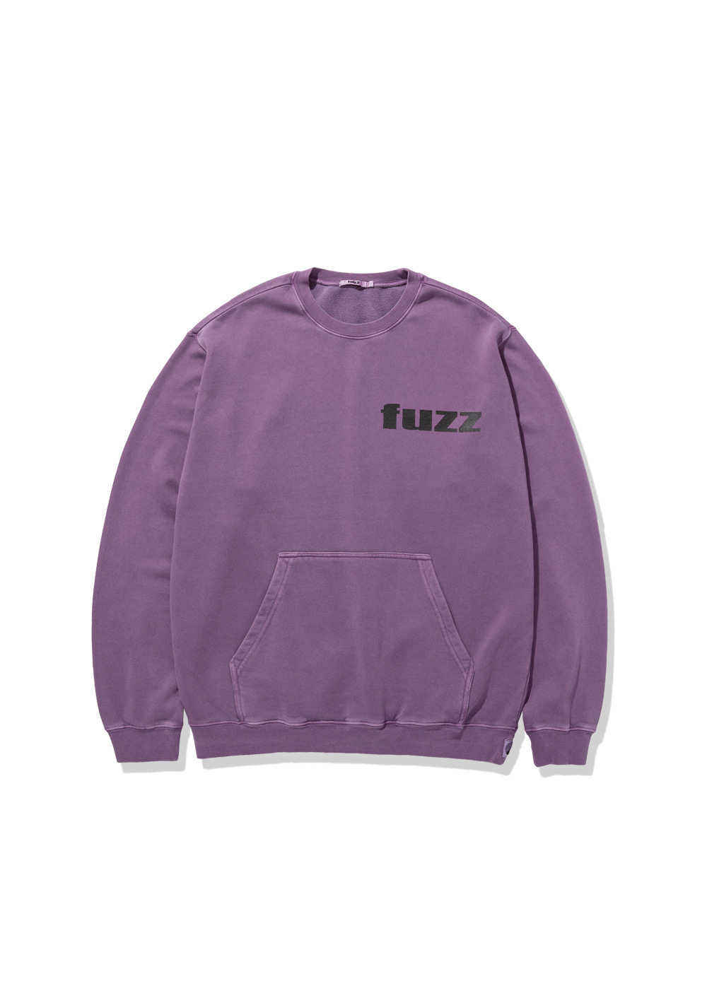 FUZZ PIGMENT DYED POCKET SWEATSHIRT purple