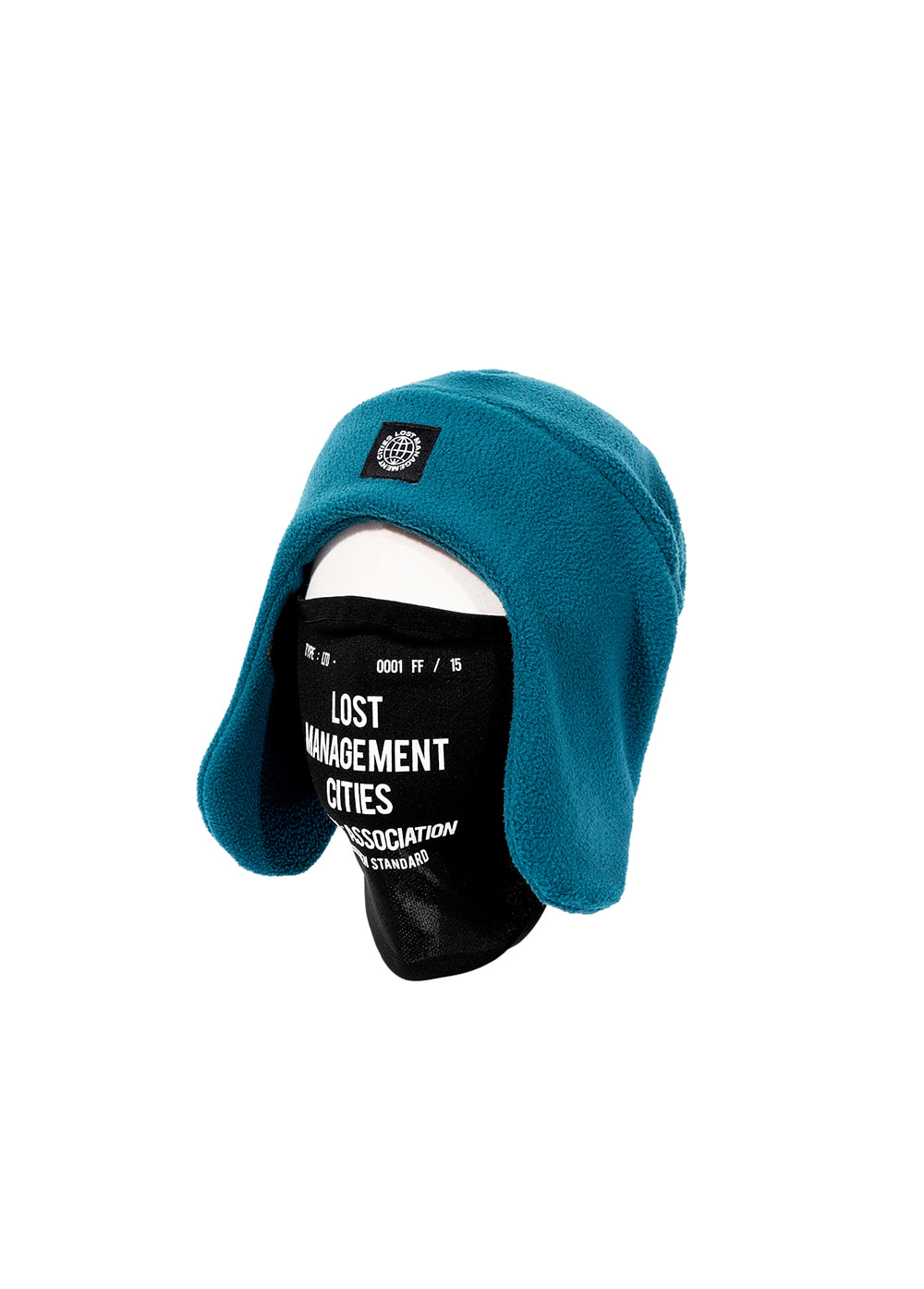 LMC MASK FLEECE EARFLAP BEANIE teal green