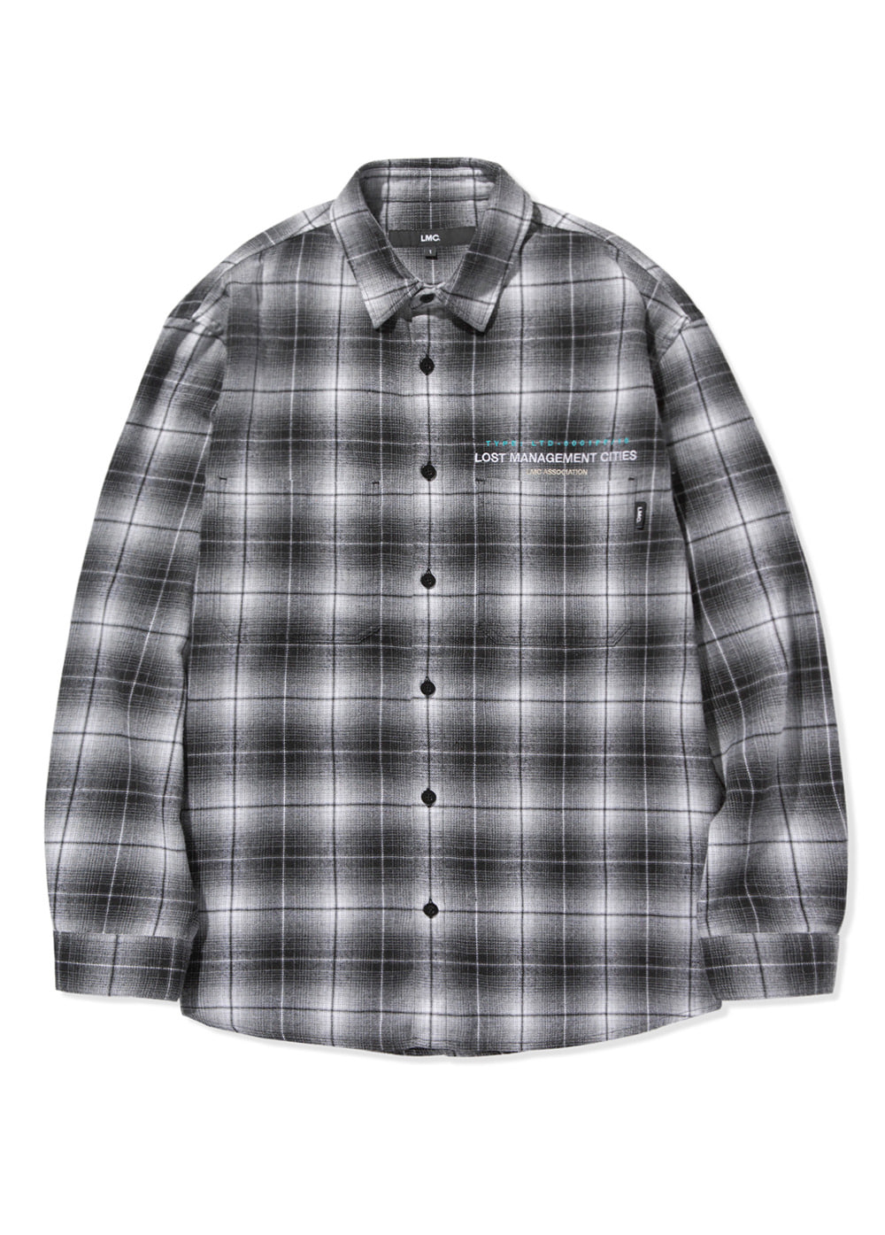 LMC OMBRE PLAID SHIRT black