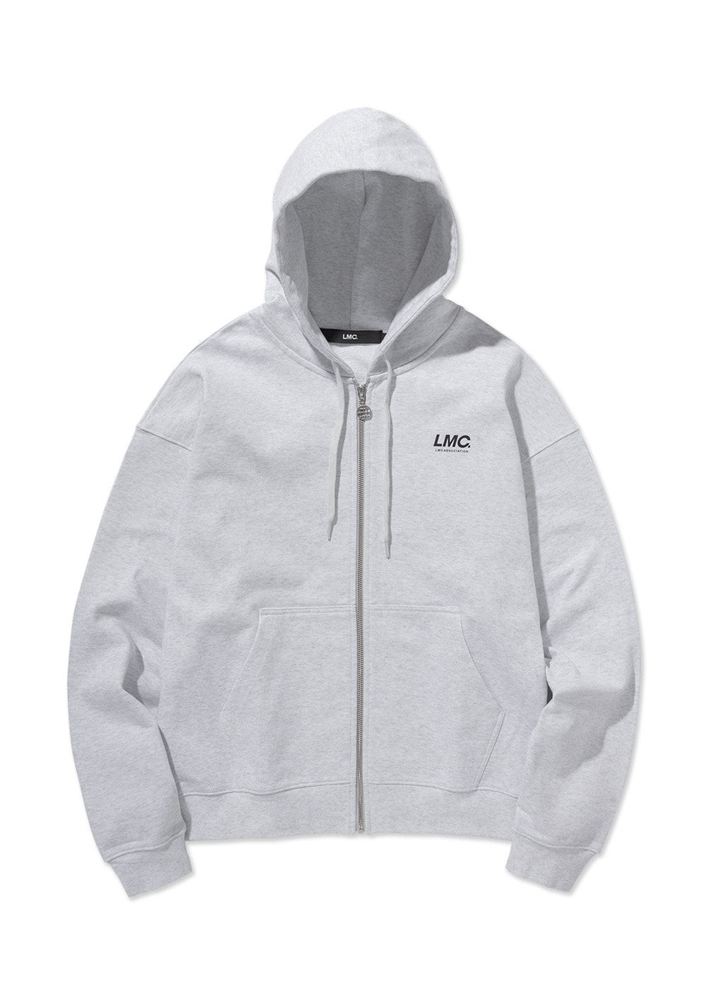 LMC ITALIC ZIP-UP HOODIE lt. heather gray