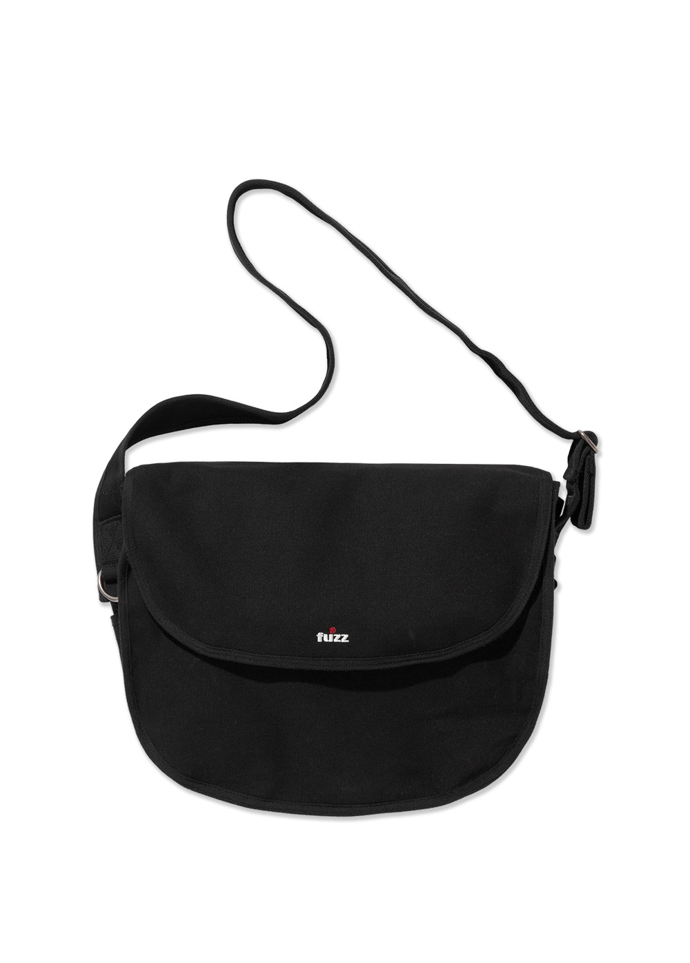 FUZZ CANVAS MESSENGER BAG black