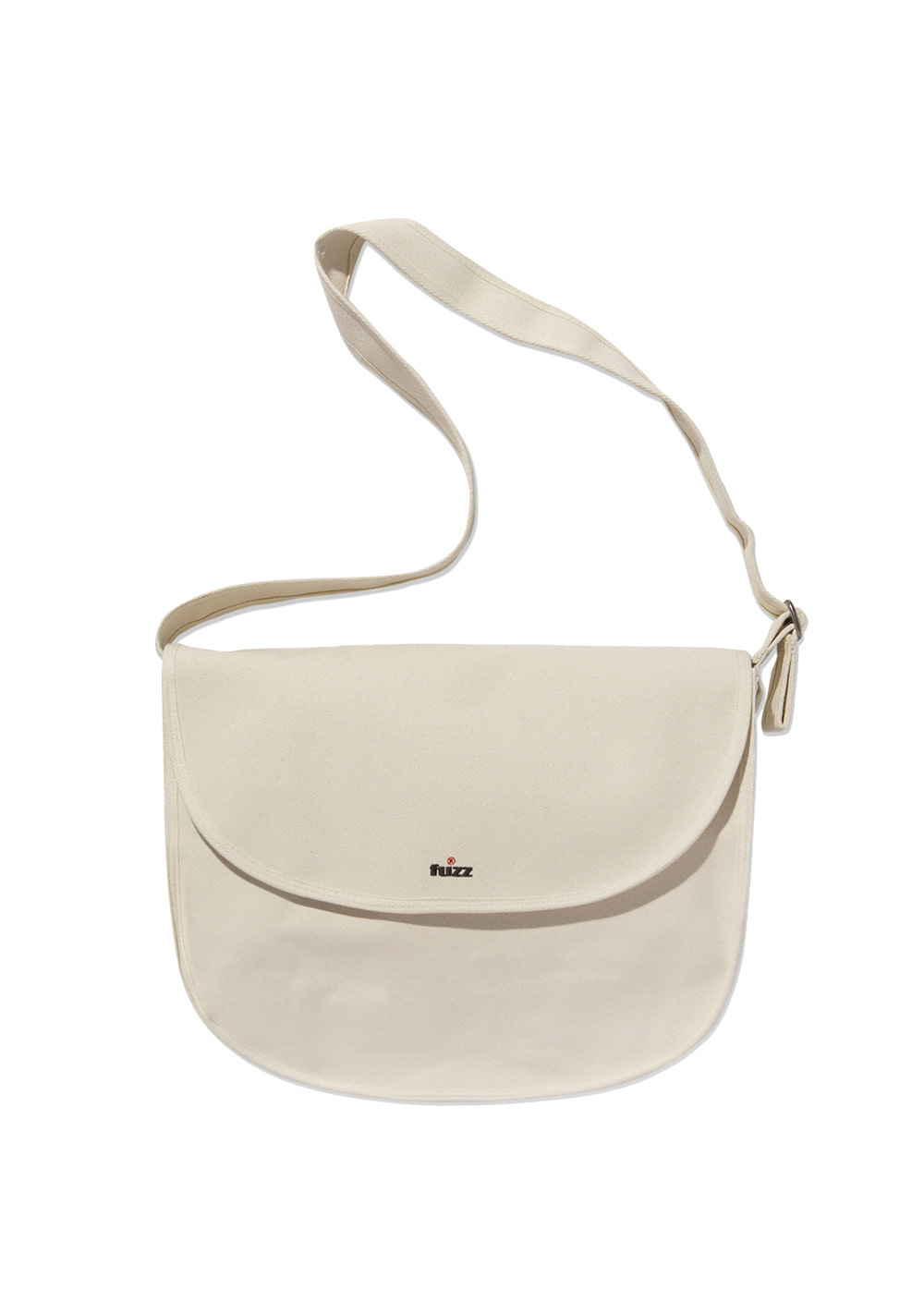 FUZZ CANVAS MESSENGER BAG ivory