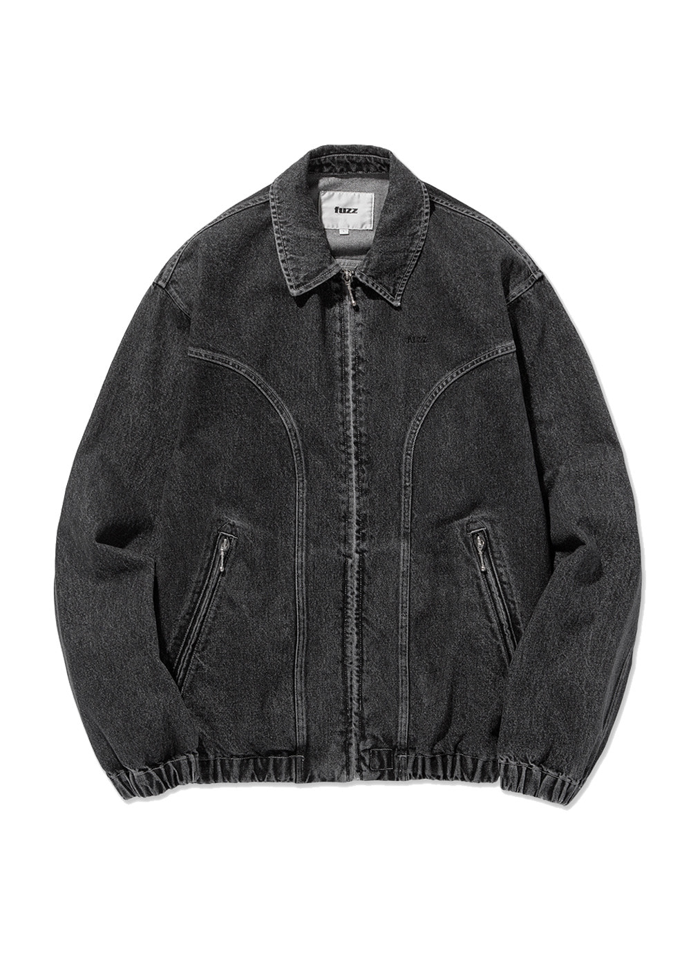 FUZZ WASHED BLACK DENIM BLOUSON