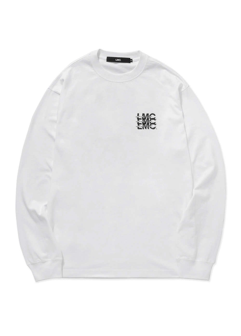 LMC NOISE LONG SLV TEE white