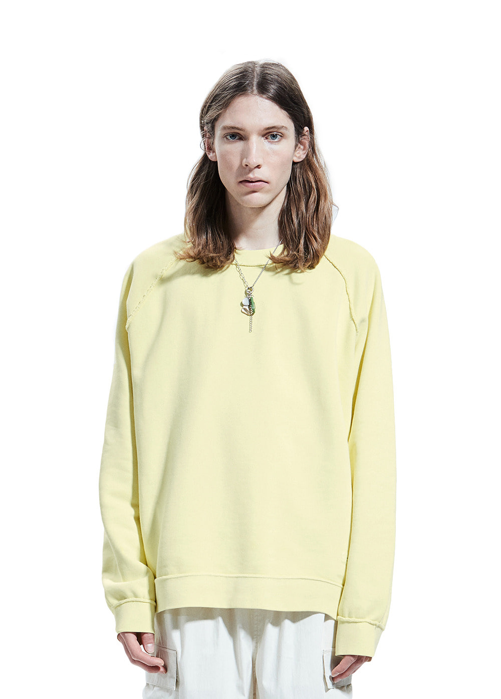 P-DYED RAGLAN SWEATSHIRT yellow