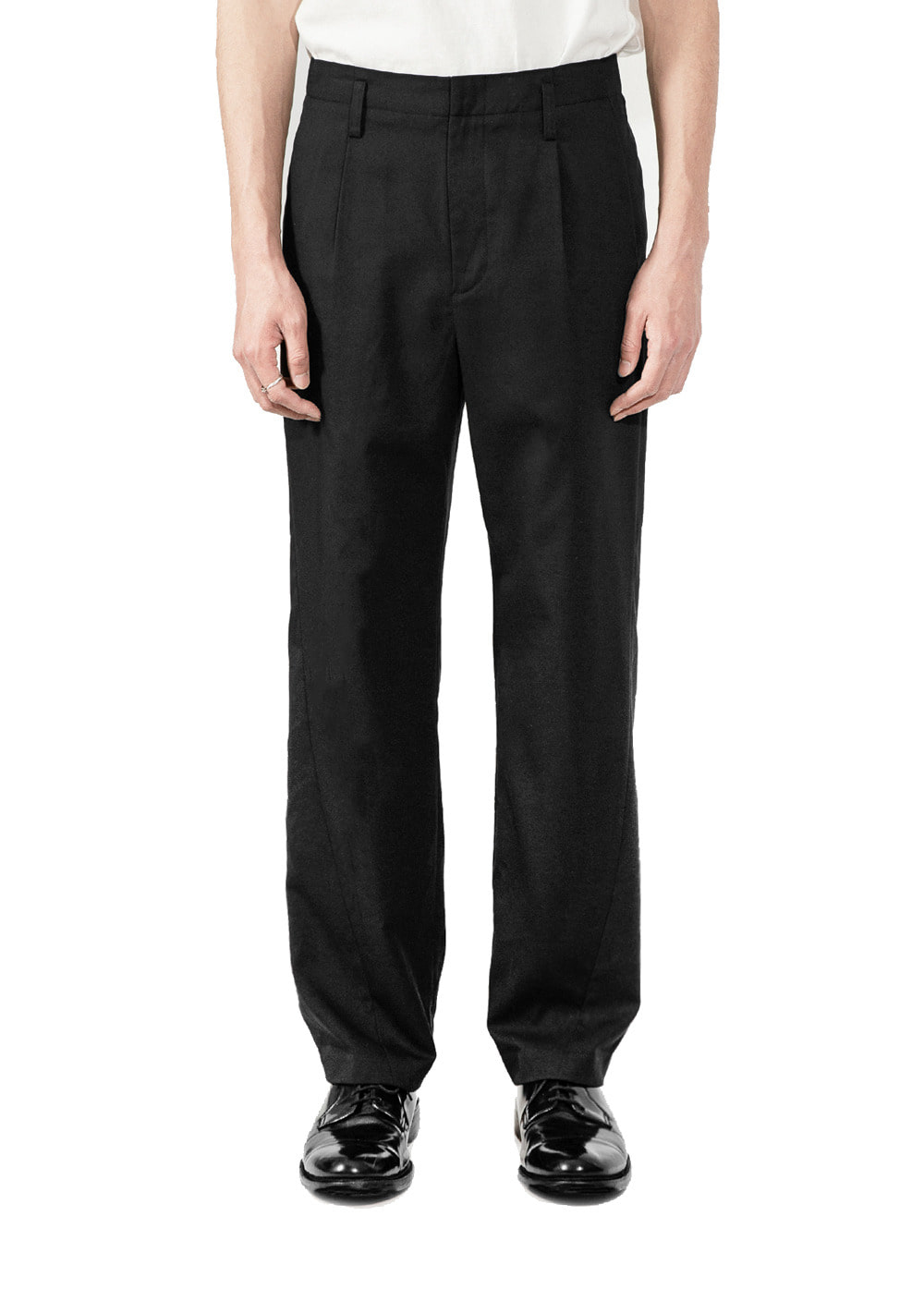 MINIMAL TWISTED SLACKS black