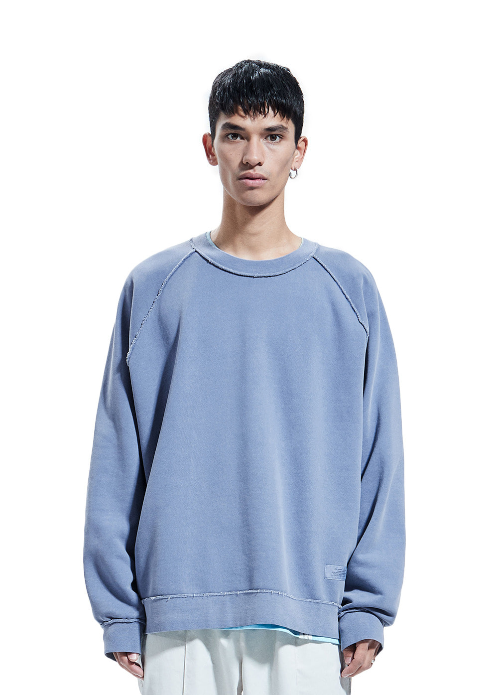 P-DYED RAGLAN SWEATSHIRT blue