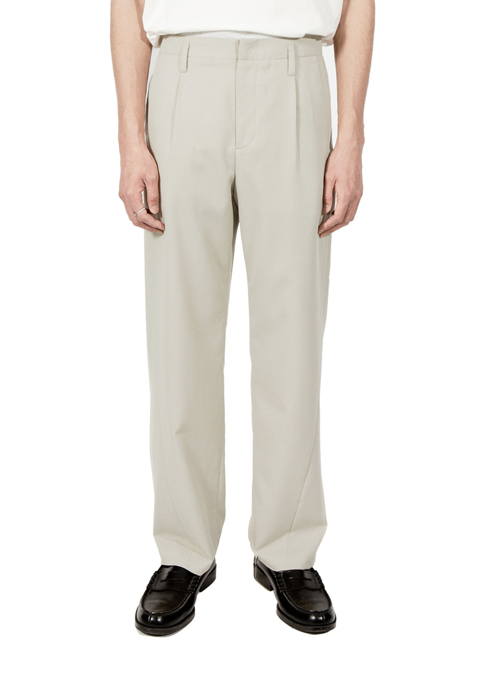 MINIMAL TWISTED SLACKS beige