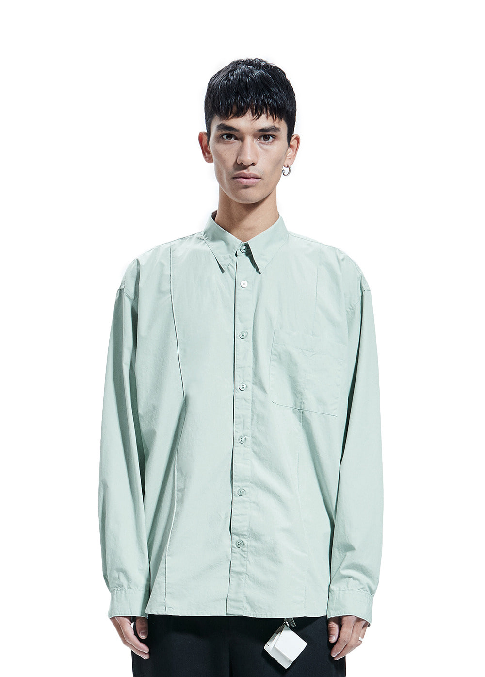 PINTUCK SHIRT light mint