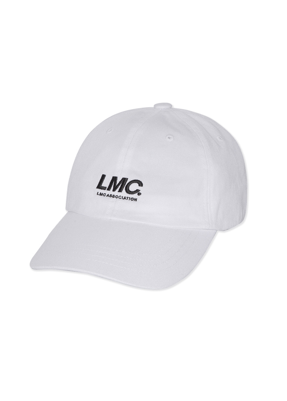 LMC ITALIC ASSOCIATION 6 PANEL CAP white