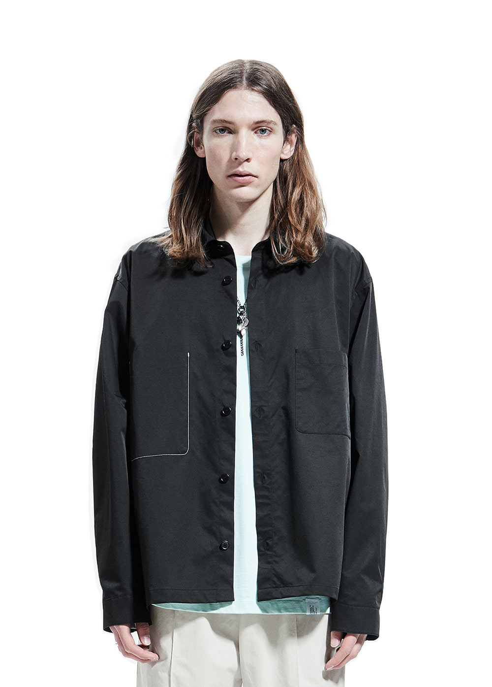 MINIMAL SHIRT JACKET black