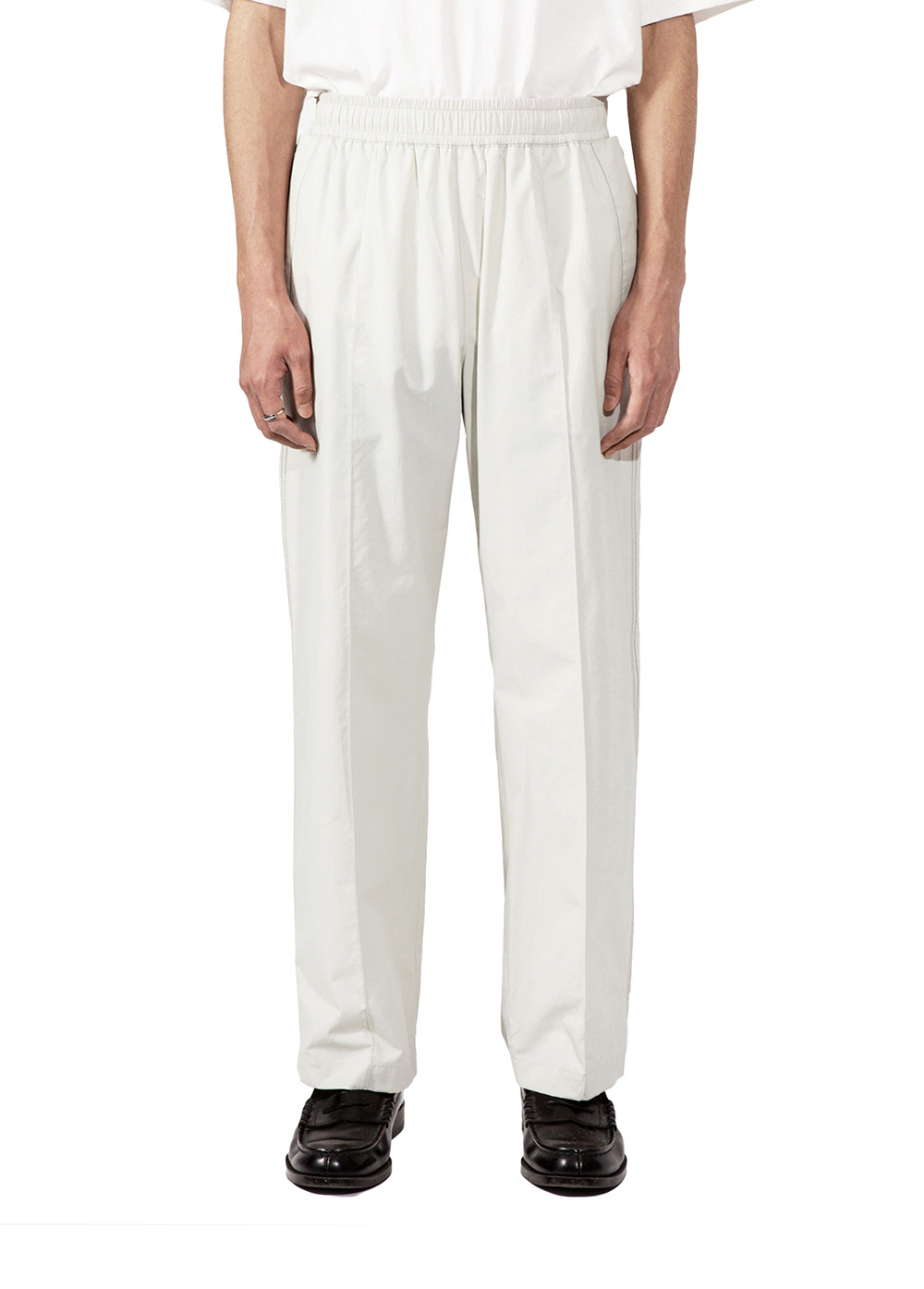 STITCH POINT PINTUCK PANTS ivory