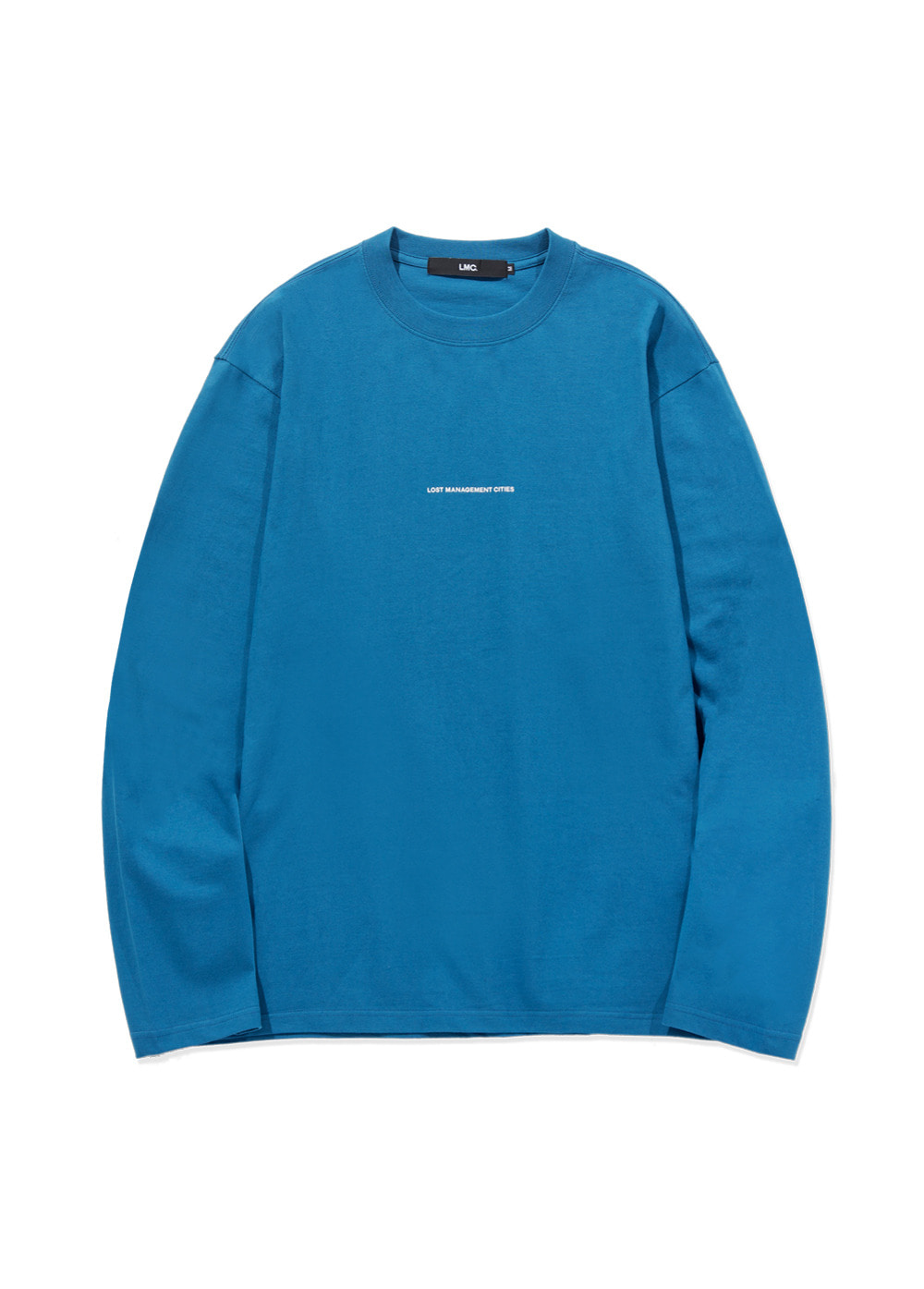 LMC MICRO FN LONG SLV TEE blue