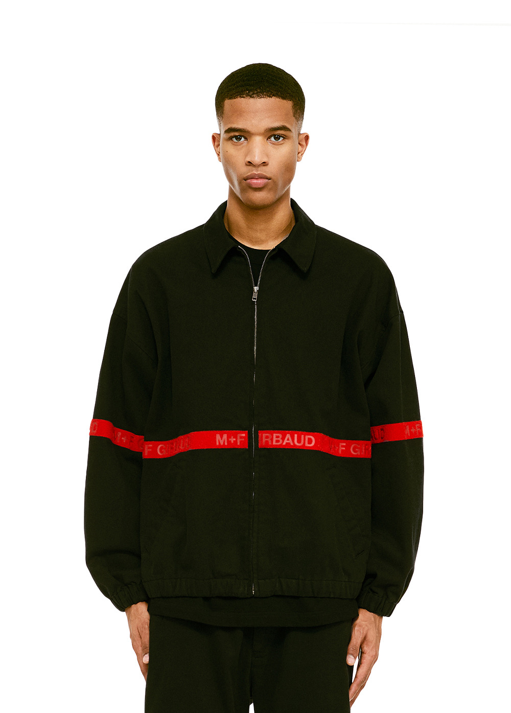 MFG SHUTTLE TAPE JACKET black