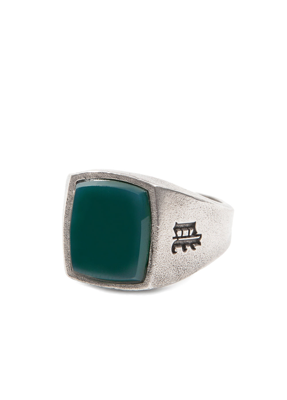 FUZZ x KUJAAN OLD ENGLISH RING green onyx