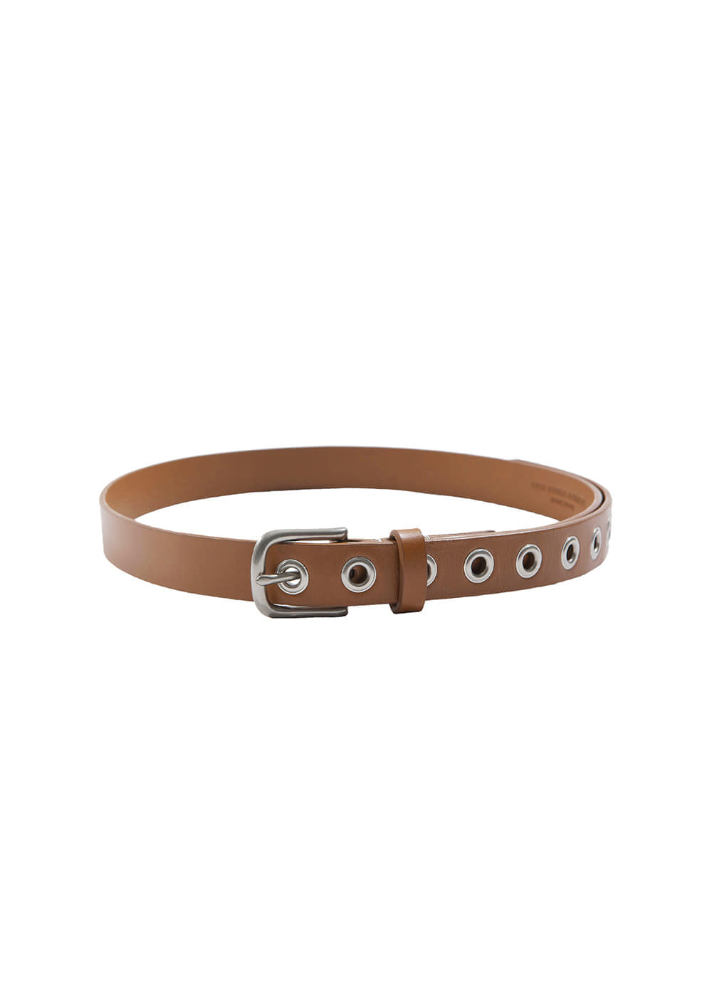 EYELET LEATHER BELT brown