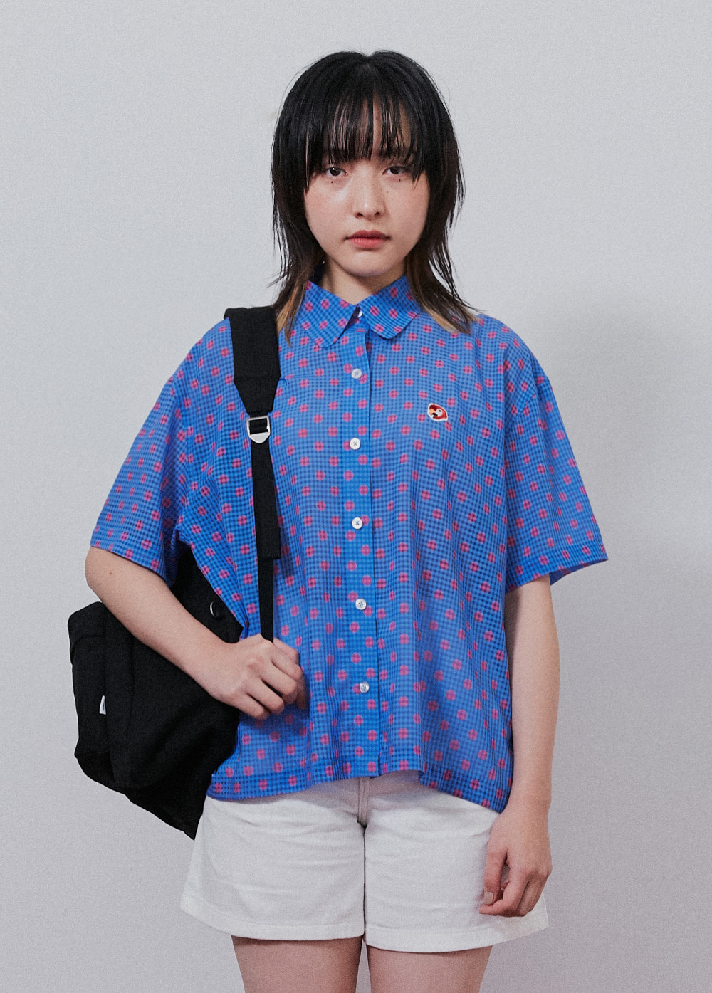 KANCO ROUND COLLAR SHORT SHIRT pink