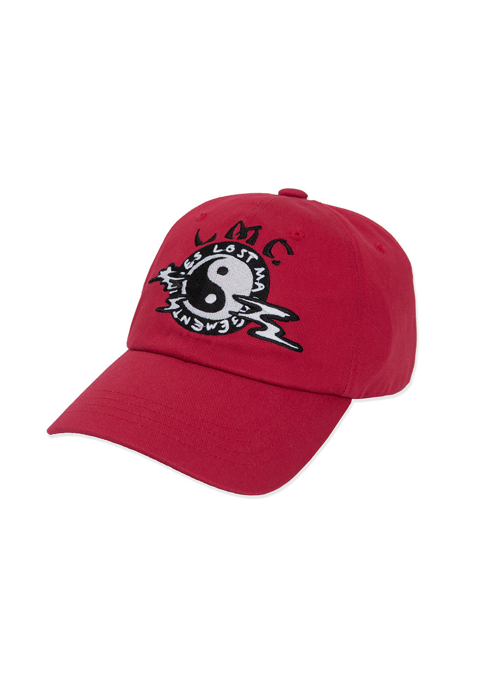 LMC YING YANG 6 PANEL CAP red