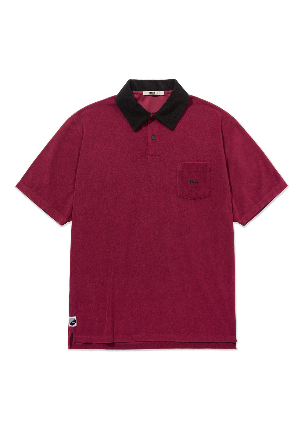 FUZZ TERRY POLO SHIRT burgundy