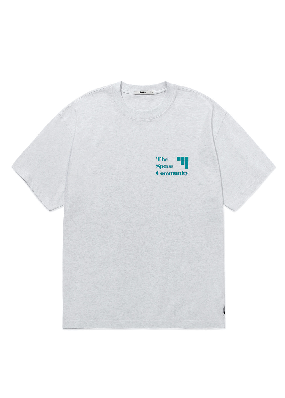 FUZZ COMMUNITY TEE lt heather gray