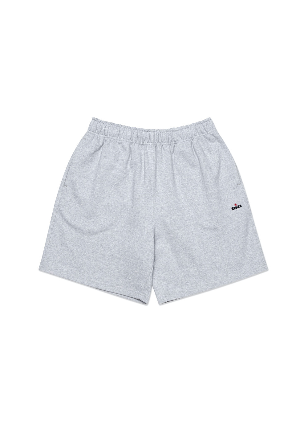 FUZZ R LOGO SWEAT SHORTS heather gray
