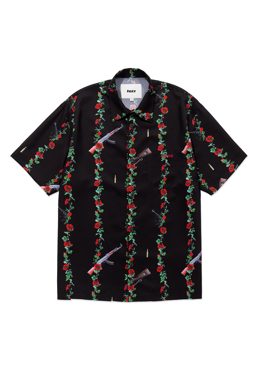 FUZZ GUNS & ROSE S/S SHIRT black