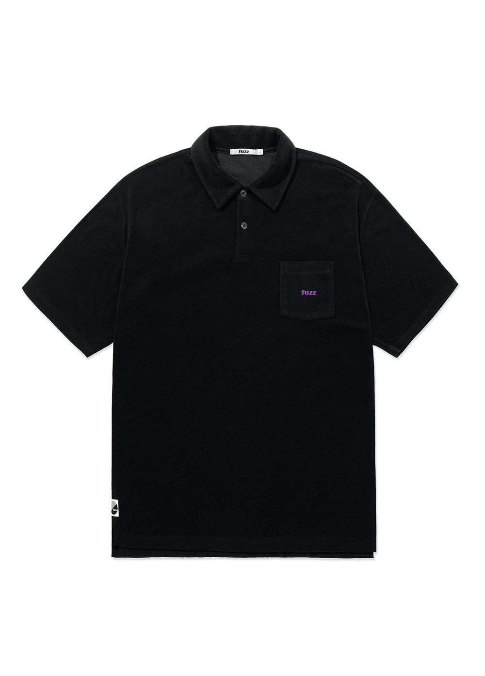 FUZZ TERRY POLO SHIRT black