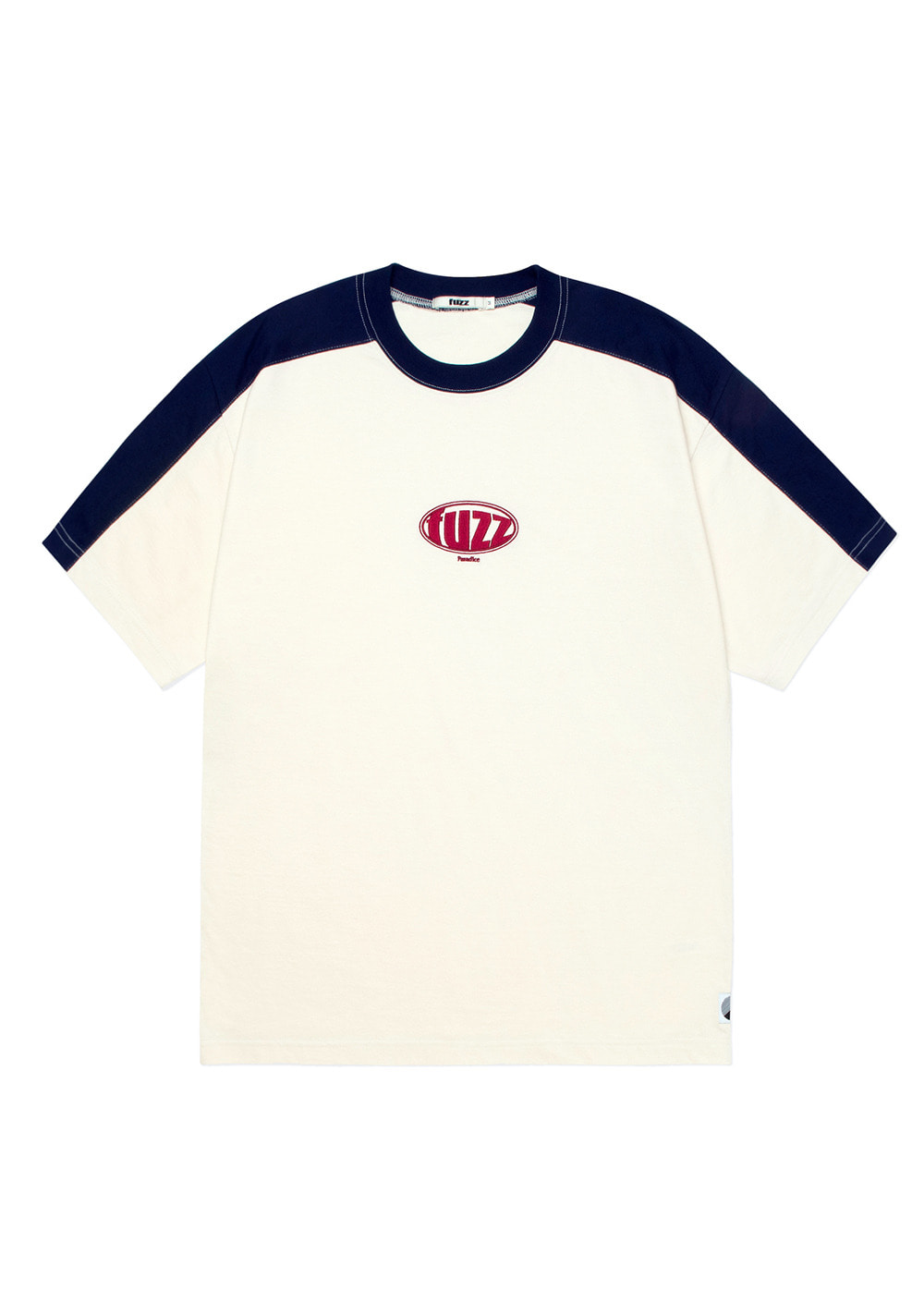 FUZZ TWO TONE CIRCLE LOGO TEE cream