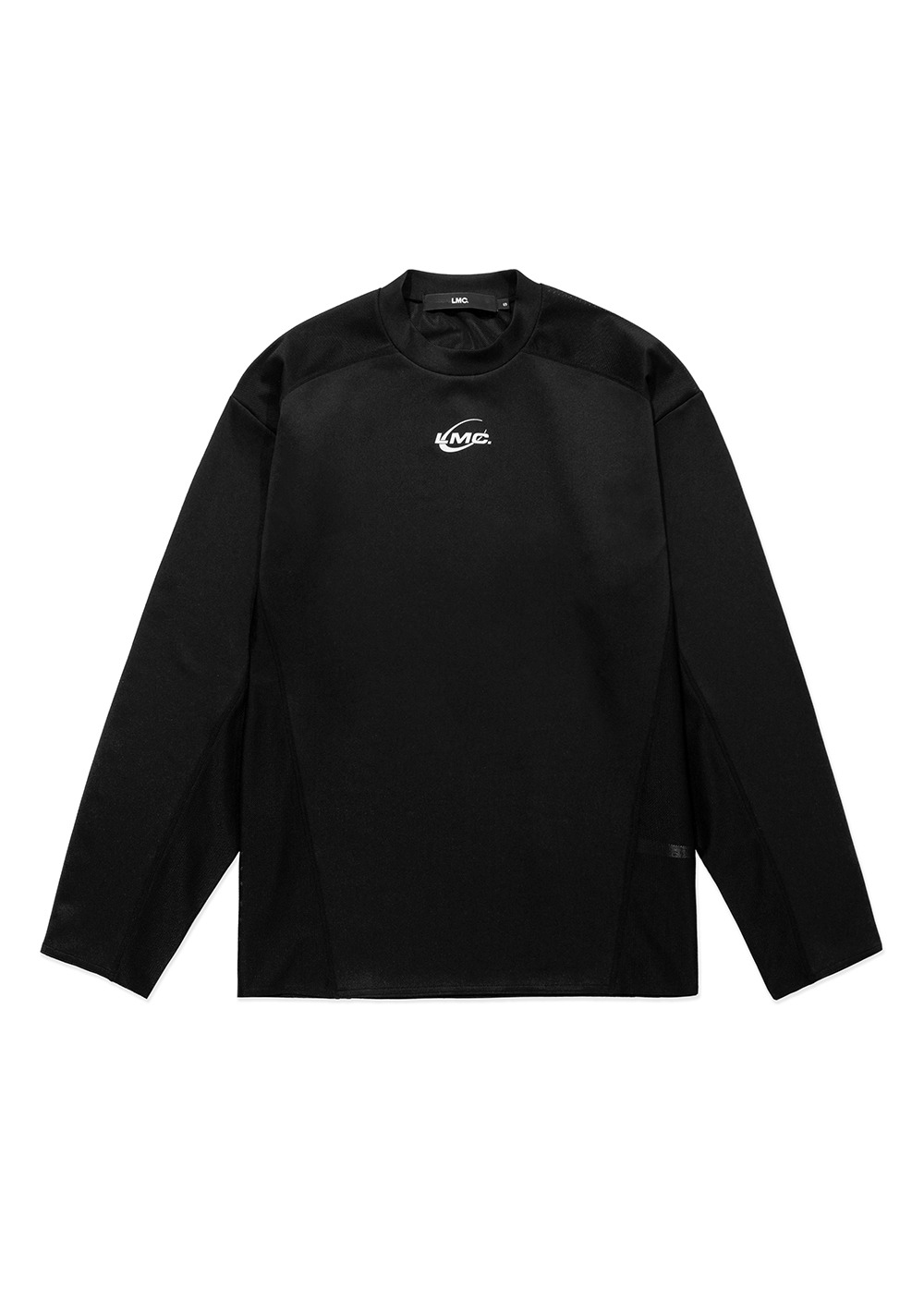 LMC CURVED LINE LONG SLV TEE black
