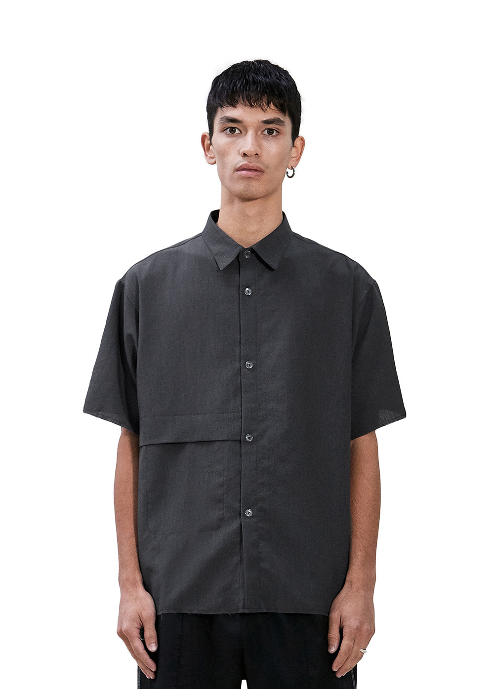 CUT-OFF SHORT SLEEVE SHIRT gray