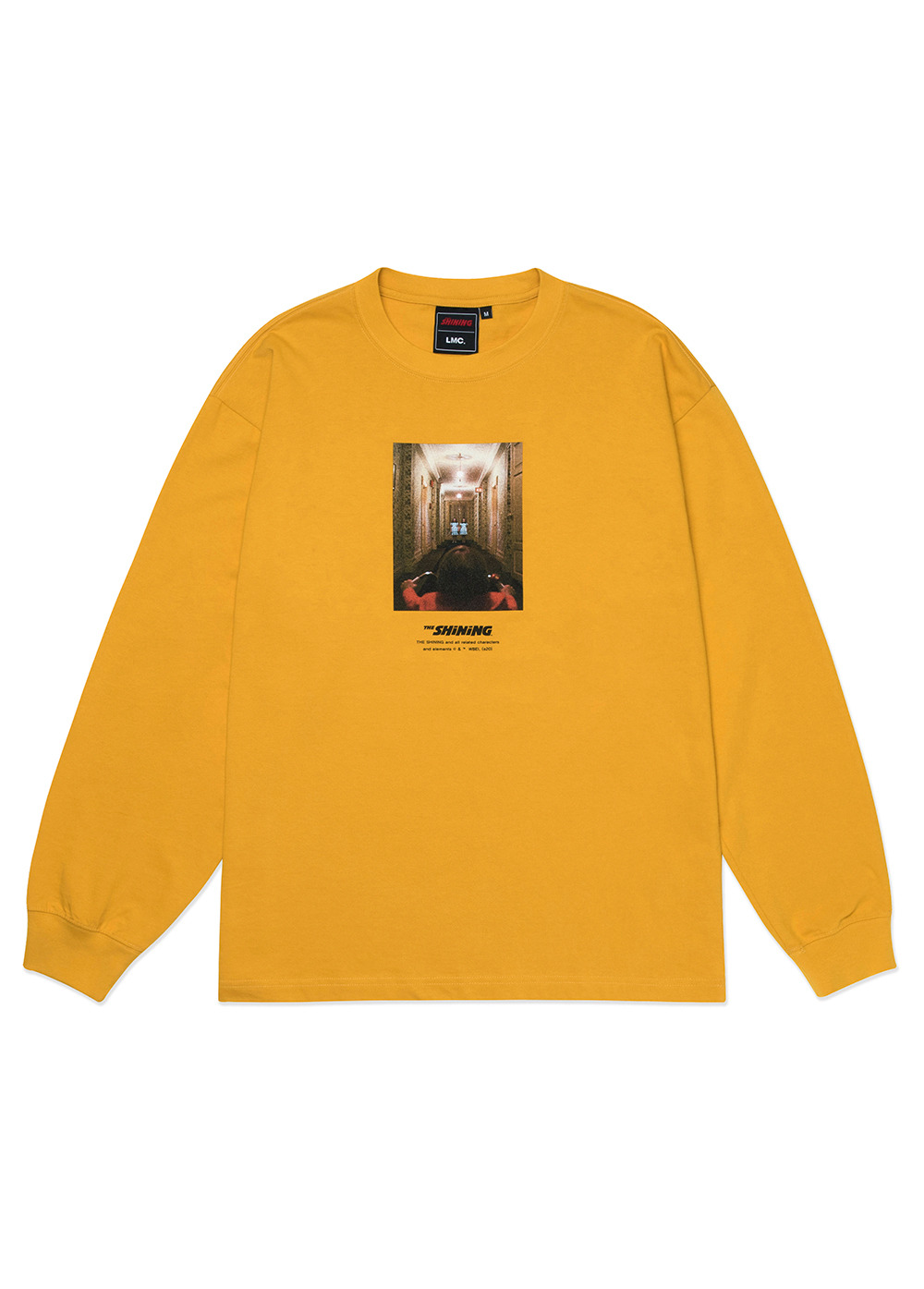 LMC│THE SHINING HALLWAY PHOTO LONG SLV TEE mustard