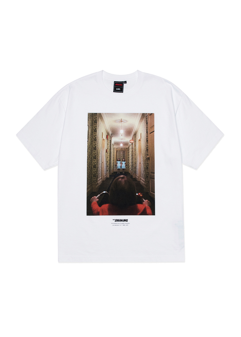 LMC│THE SHINING HALLWAY PHOTO TEE white